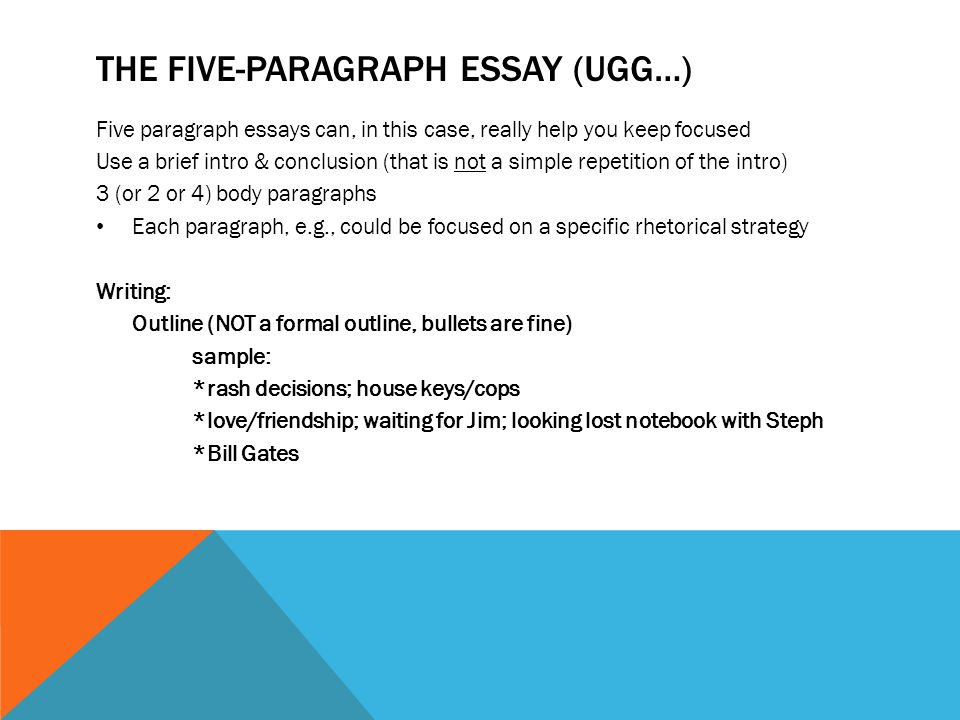 teaching 5 paragraph essay powerpoint
