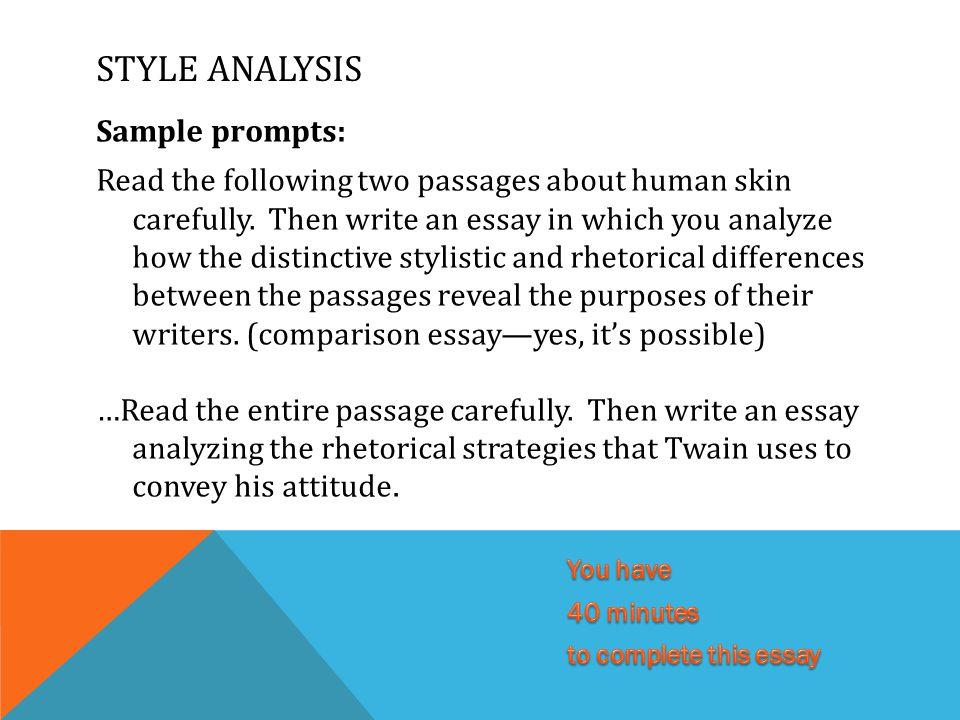 ap lang style analysis essay Language, author's style, and syntax tone shift vocabulary associated with tone figures of speech (figurative language) metaphor extended/controlling paradox.