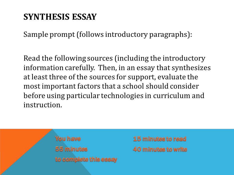 Five pointers for writing the synthesis essay