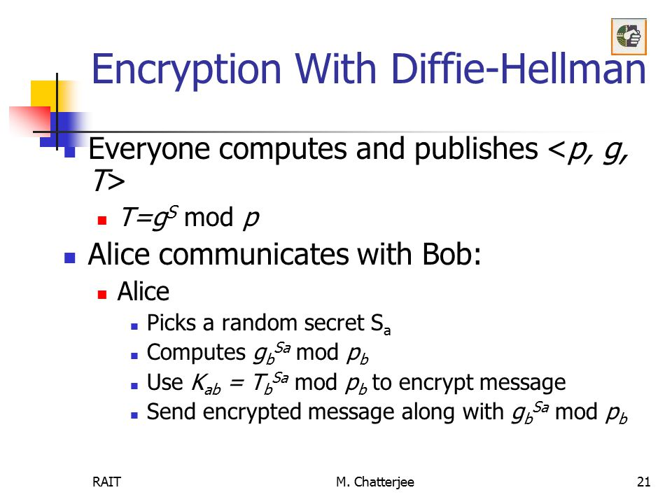 Encryption With Diffie-Hellman