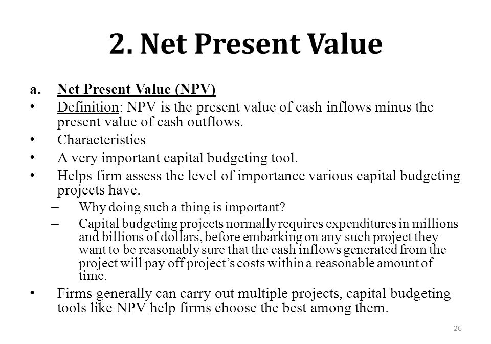 advanced npv problems Net present value – swanson industries has a project with the following projected cash flows: initial cost, year 0: $240,000 problems and solutions.