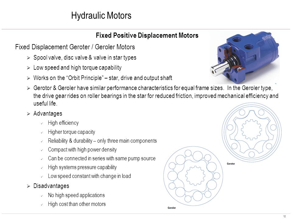 Fixed Positive Displacement Motors