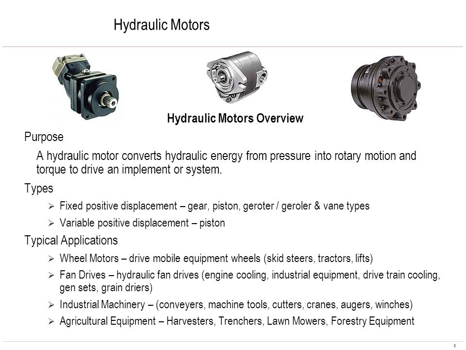 Hydraulic Motors Overview