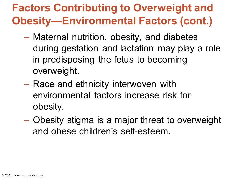 Environmental factors role in obesity epidemic