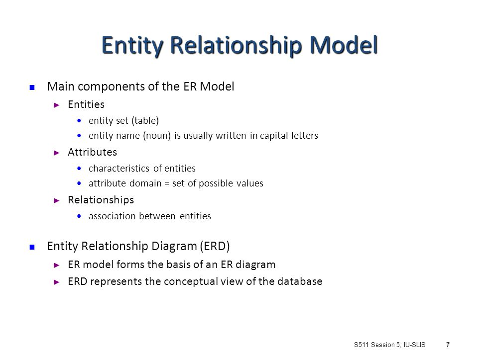 entity relationship modelling and normalization definition