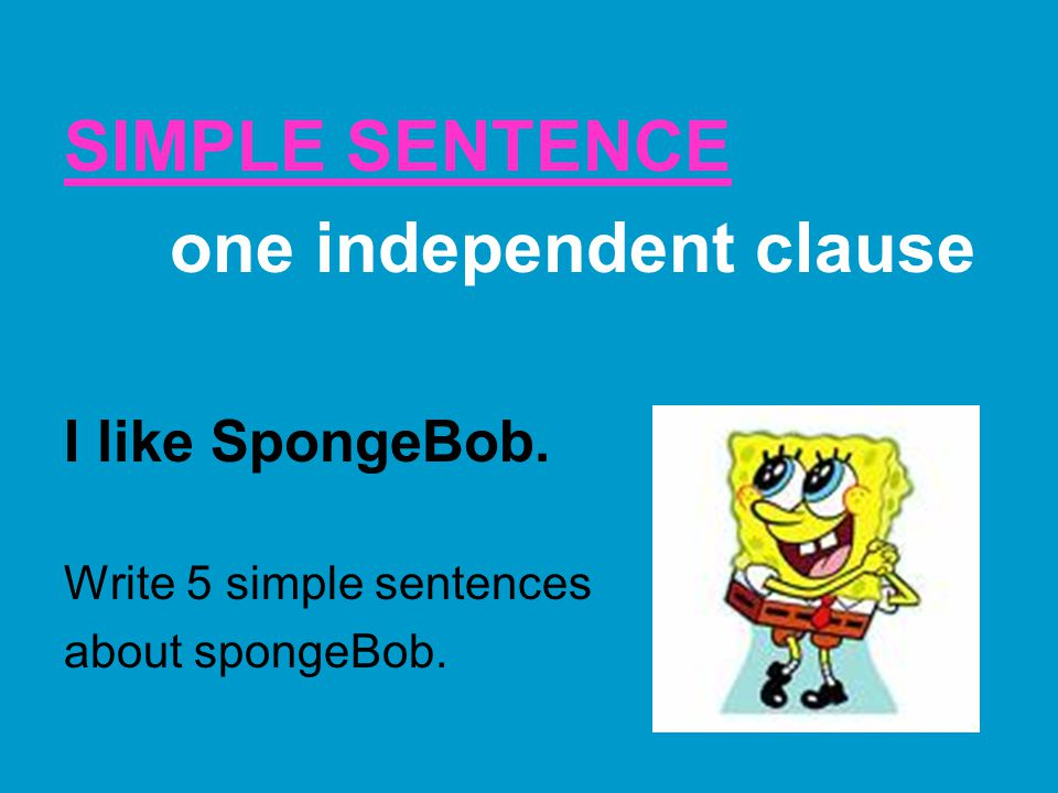 one independent clause