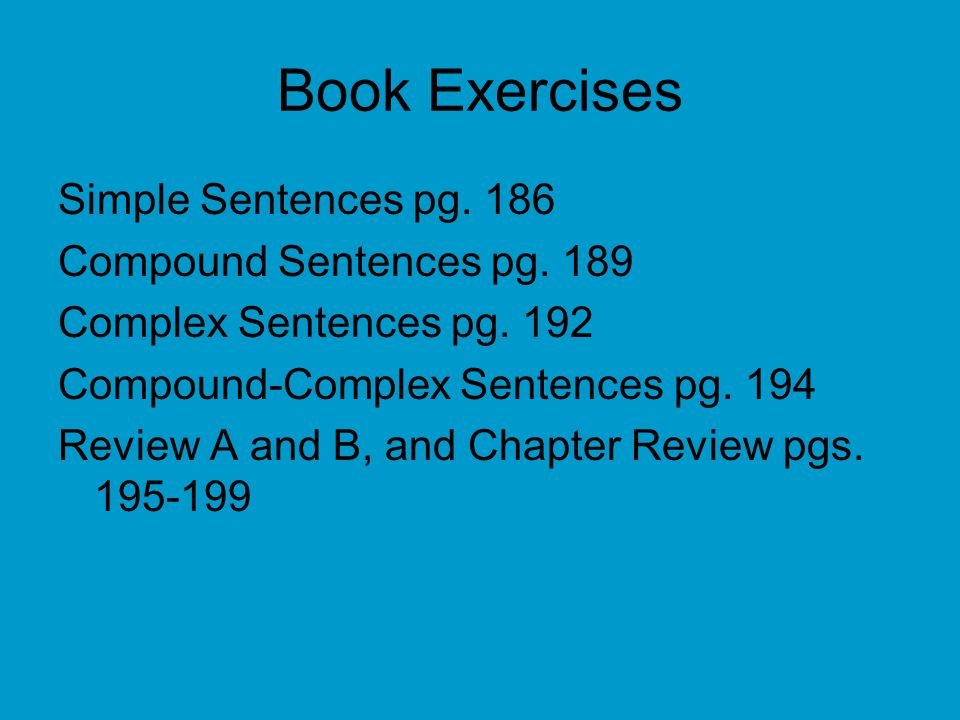 Book Exercises