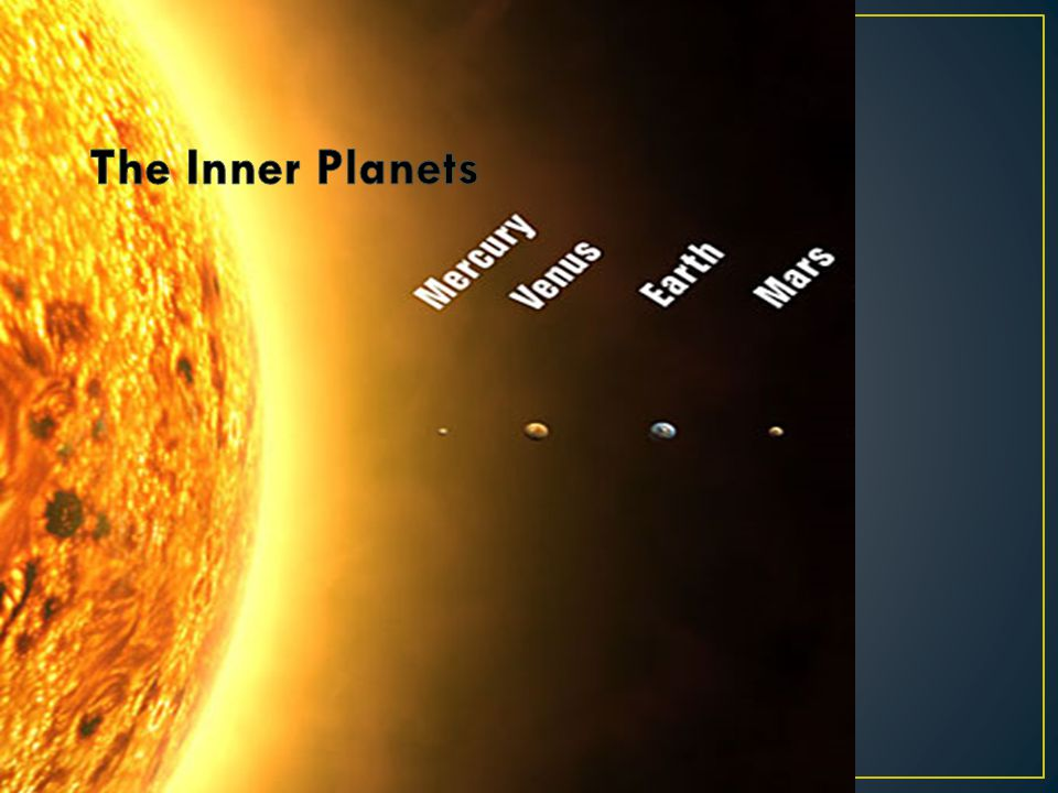 inner planets the sun by - photo #44