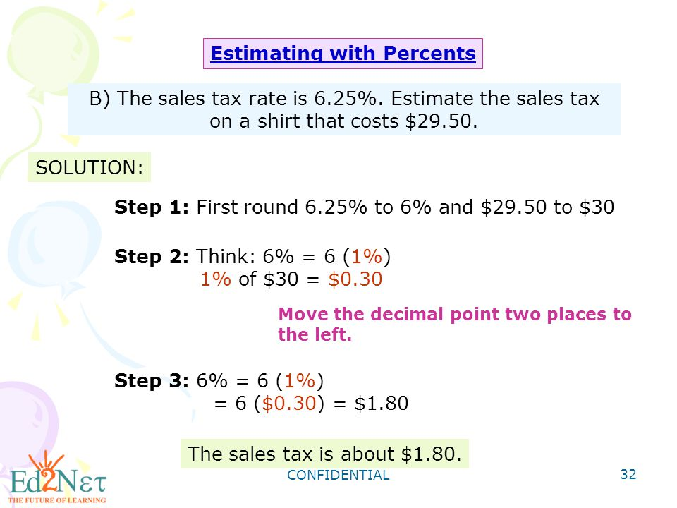 Grade 8 algebra1 review of proportion and percent ppt download 32 estimating with percents fandeluxe Image collections