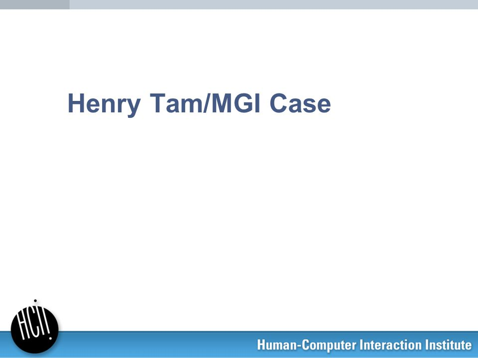 Henry Tam and the MGI Team