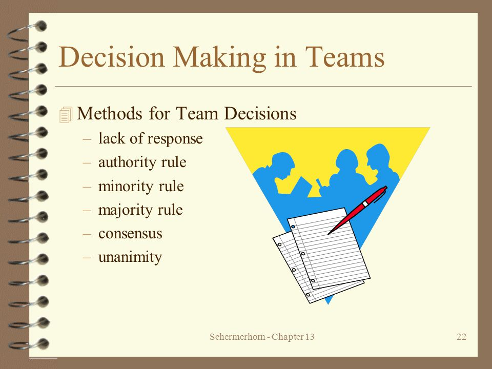 Decision Making in Teams