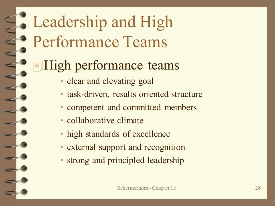 Leadership and High Performance Teams