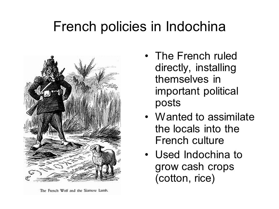 French policies in Indochina