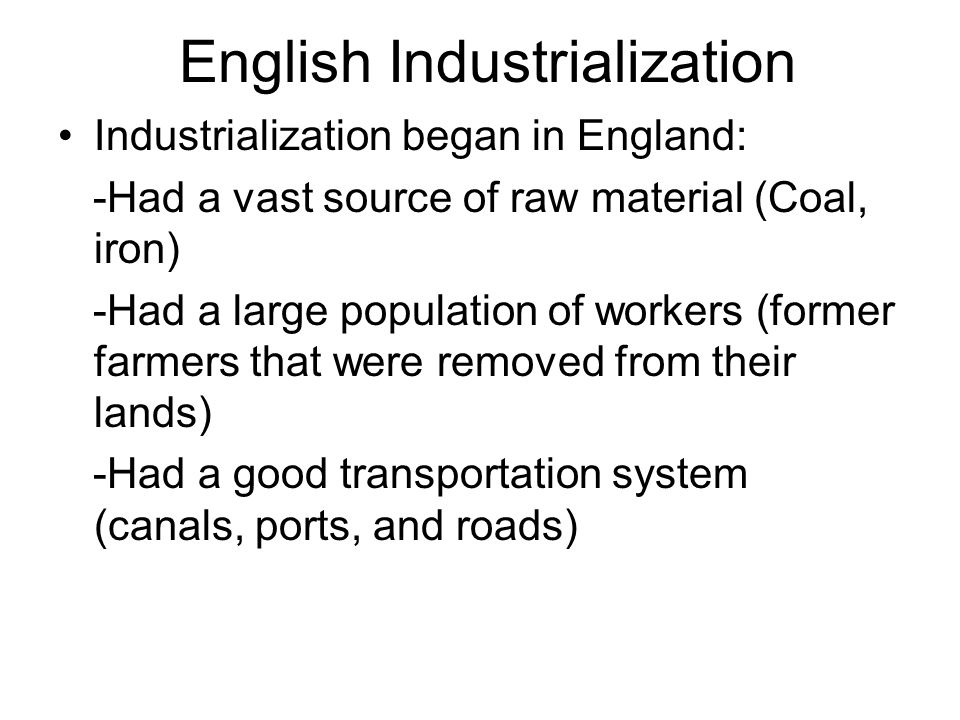 English Industrialization
