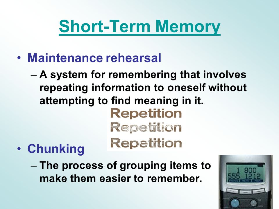 Short Term Memory : Chapter memory thought ppt video online download