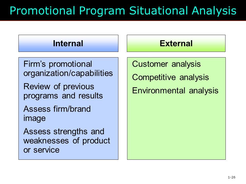 Promotional Program Situational Analysis