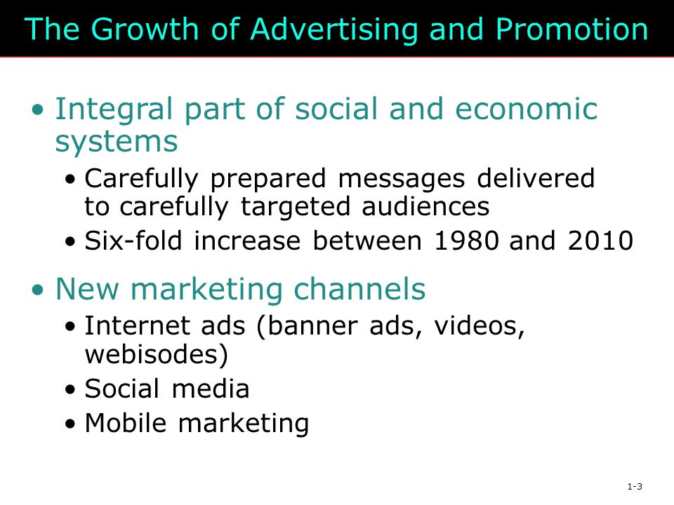 The Growth of Advertising and Promotion