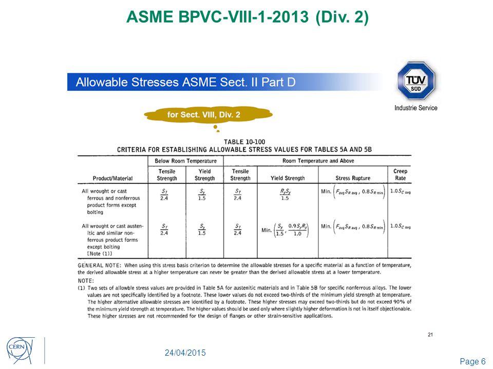 Ph dt engineering office cern ppt video online download - Asme viii div 1 ...