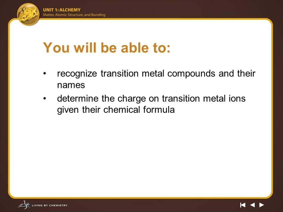 Alchemy Of Paint Transition Metal Chemistry