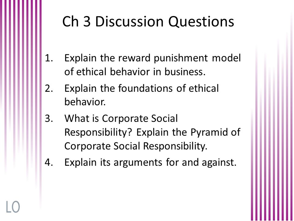 Ch 3 Discussion Questions