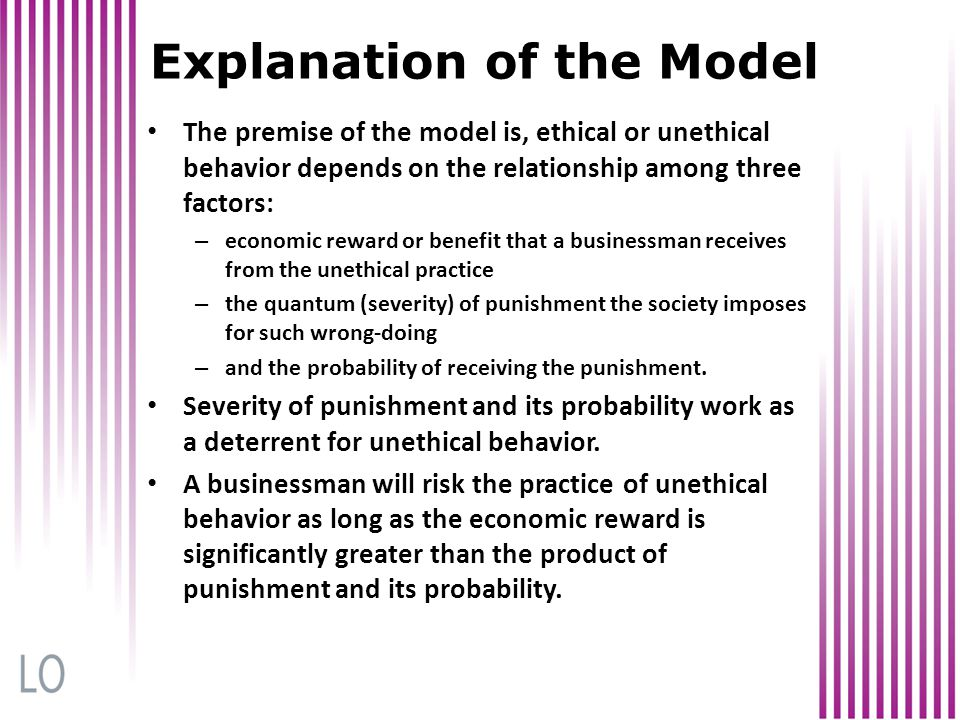 Explanation of the Model