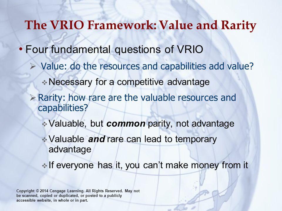 vrio framework View notes - vrio framework w/ walmart examplestrategic management 9/18/14 wal-mart case opportunities/threats 1979229stores +25years,largestoscorp 45%ofgeneralmerchandise.