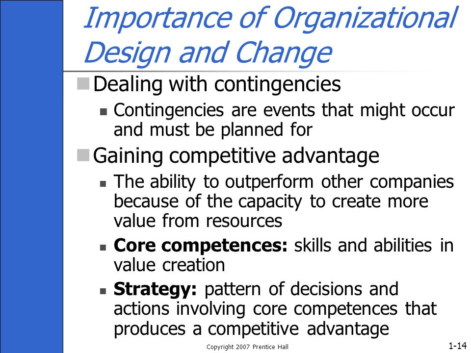 Importance of Organizational Design and Change