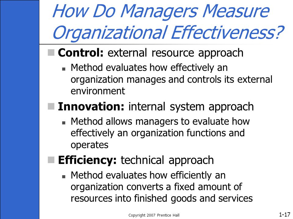 How Do Managers Measure Organizational Effectiveness