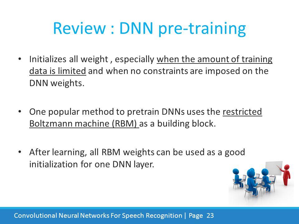 Review : DNN pre-training