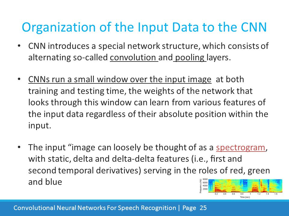 Organization of the Input Data to the CNN