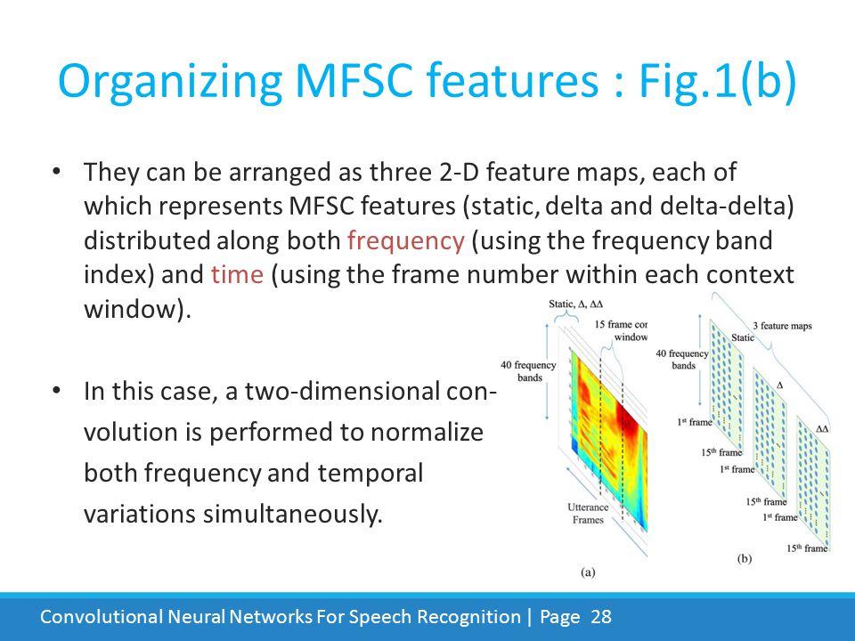 Organizing MFSC features : Fig.1(b)