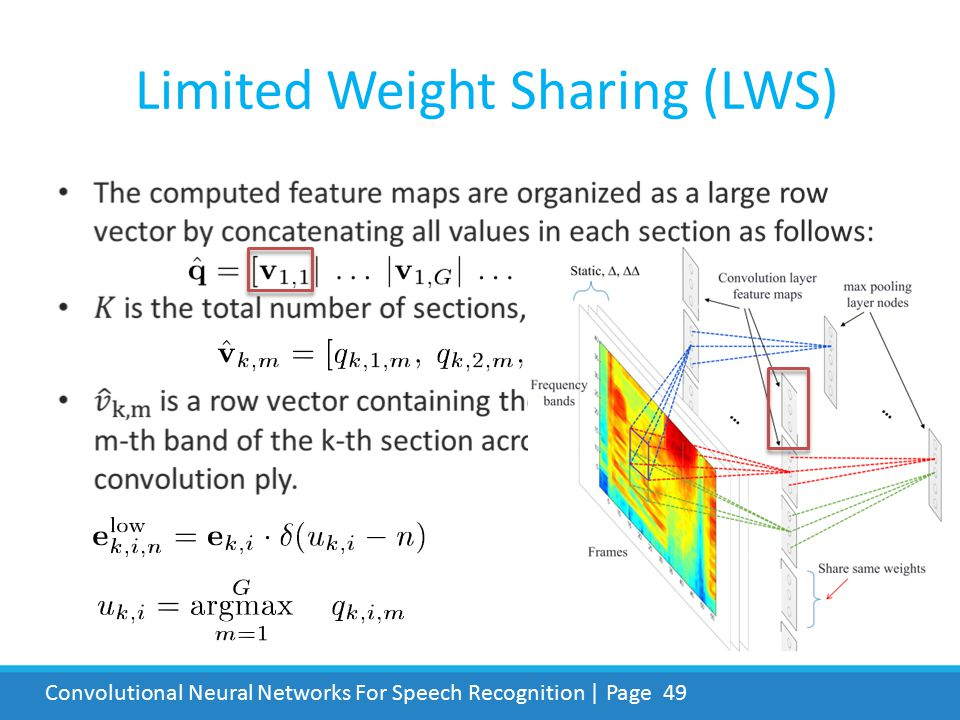 Limited Weight Sharing (LWS)
