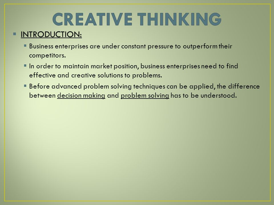 creative thinking research paper