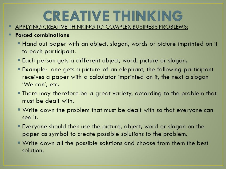 applying creativity to problems Pdes1200 using creativity and innovation where students will work in teams to apply learning from the module to address a societal - creativity in problem.