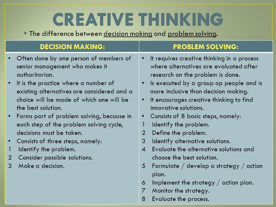 thinking and decision making Free term papers & essays - relationship between critical thinking and decision making, business.