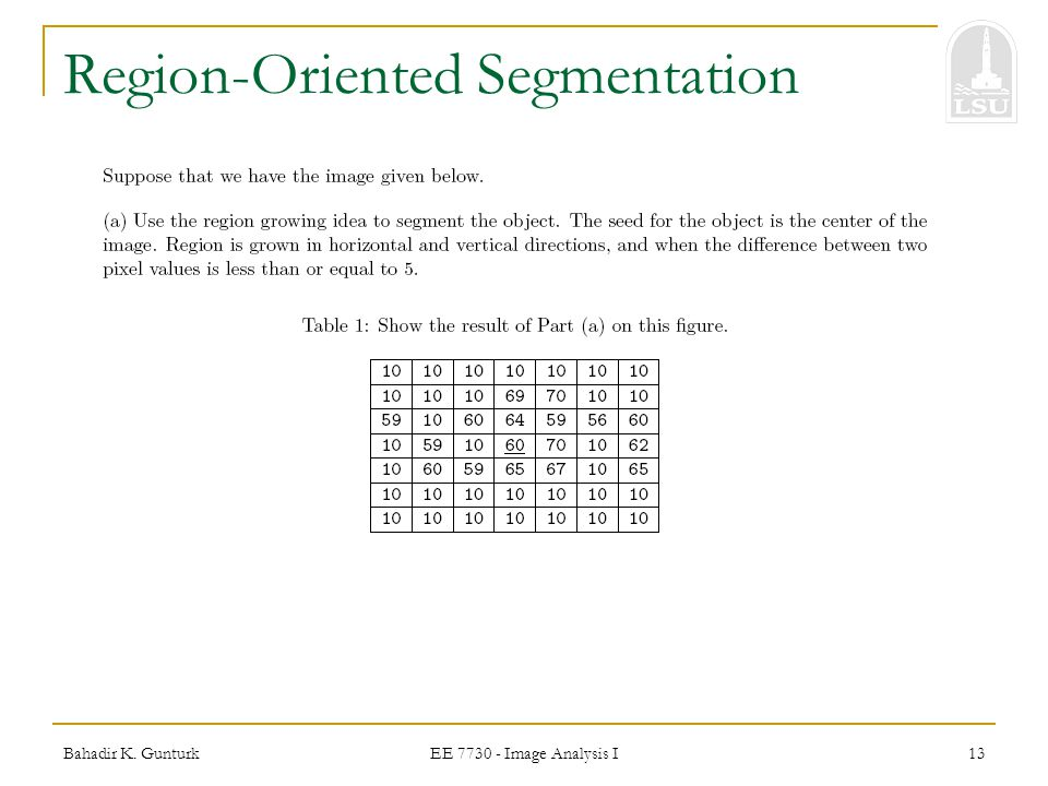 Region-Oriented Segmentation