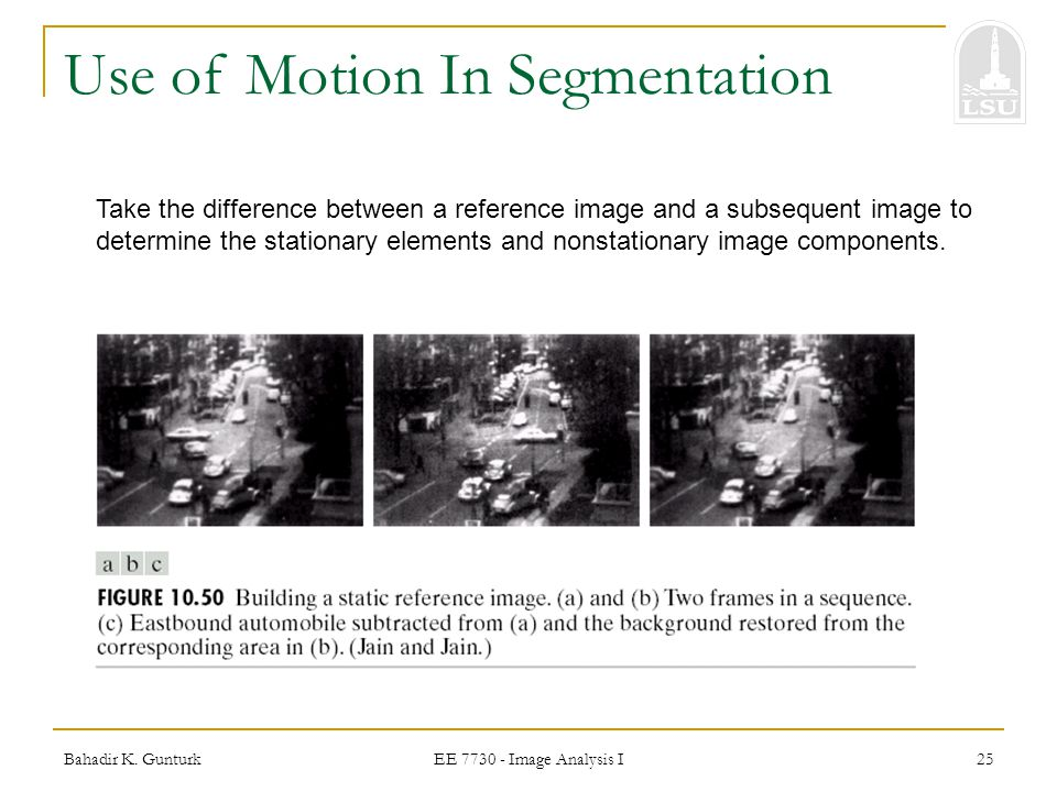 Use of Motion In Segmentation