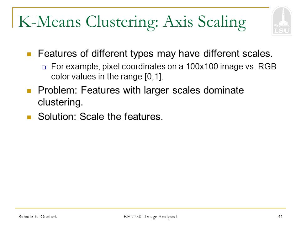 K-Means Clustering: Axis Scaling