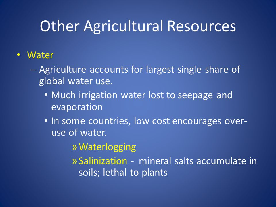 Other Agricultural Resources