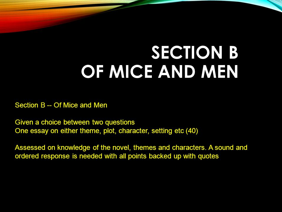 of mice and men language essay Essays - largest database of quality sample essays and research papers on of mice and men language.