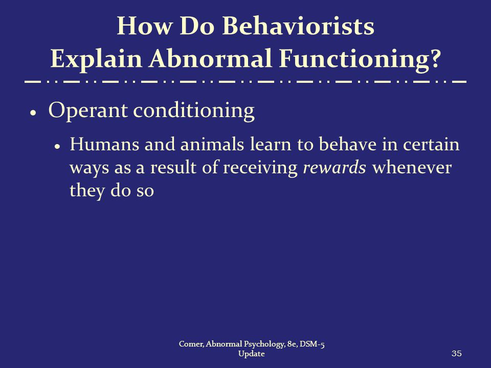 explanations and treatments of abnormal behavior There are specific symptoms that accompany each anxiety disorder  as  explained above, anxiety as an emotion is a normal reaction to certain situations  and.