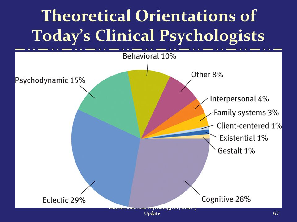 psychodynamic theoretical orientation The theoretical orientation of a psychotherapist or clinical psychologist reflects the particular theory or theories on which they base their practice these theories, which are usually the result of training in particular approaches, tend to act as biases shaping the way in which the therapists, assess and interact with clients.
