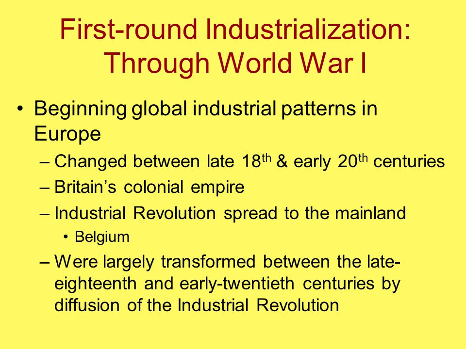 industrial revolution and world war i What impact did the industrial revolution have on world war i how did the industrial revolution impact world war i this is an old chestnut of a question.
