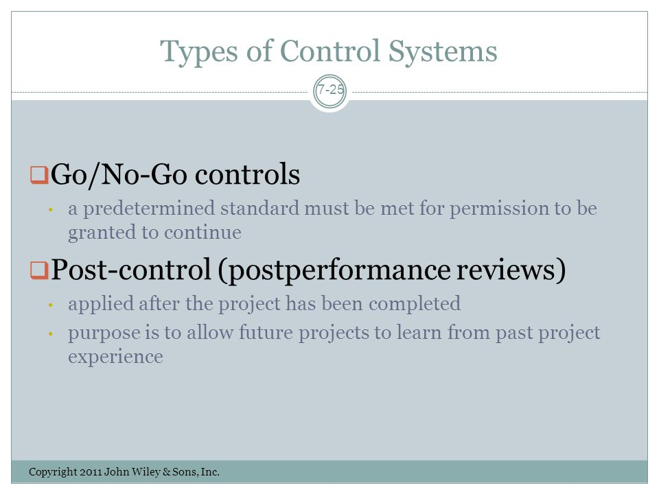 Types of Control Systems