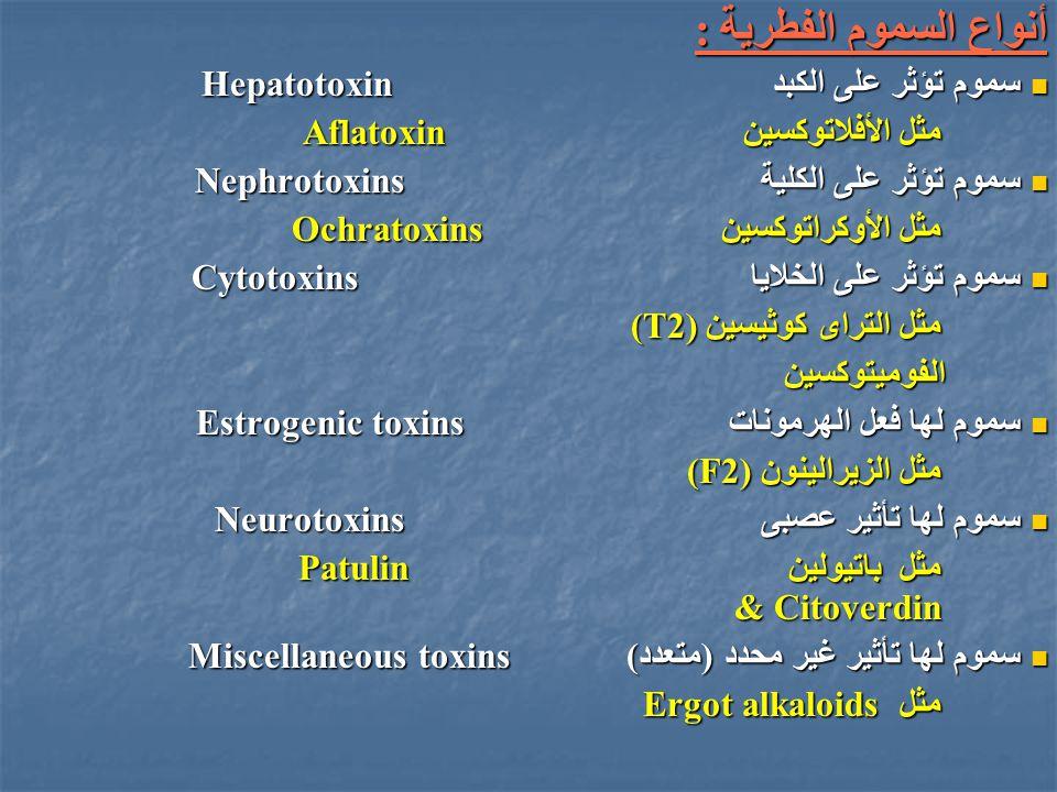أنواع السموم الفطرية : سموم تؤثر على الكبد Hepatotoxin