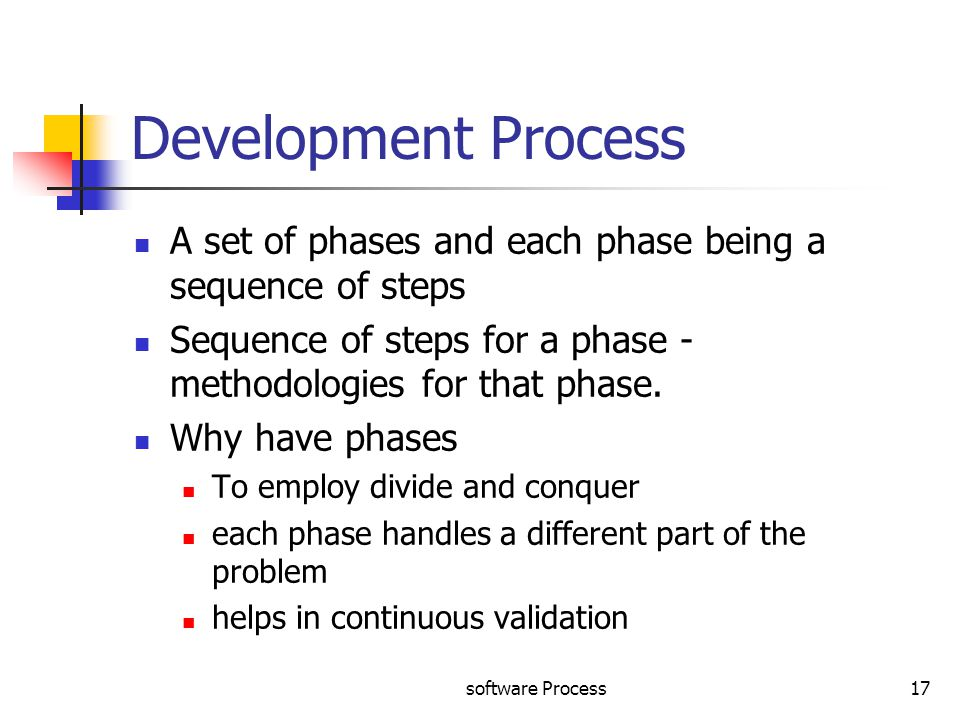 Process Development Phase : Software process ppt video online download