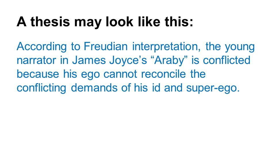 araby essay topics