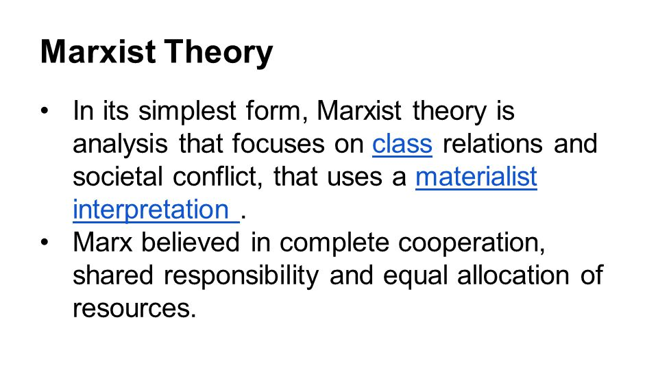 an analysis of marxist media theory Analysis of contemporary mass communication research in great britain marxist approaches to media studies: the british feminist theories and media.
