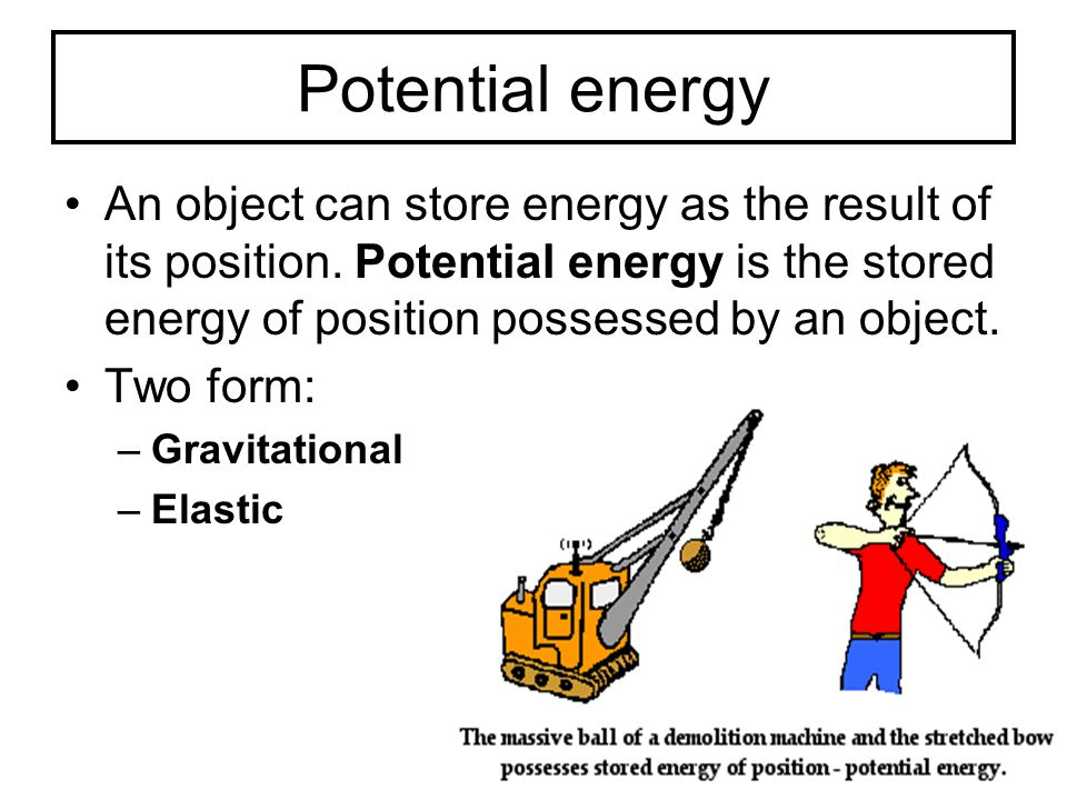 elastic potential energy and gravitational relationship