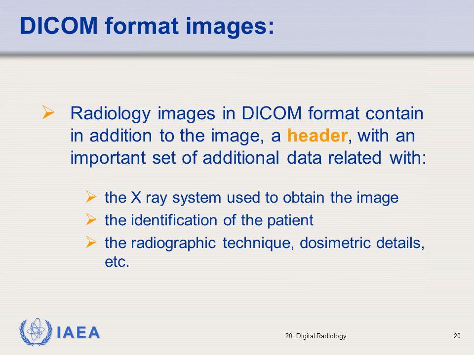 Dicom header example